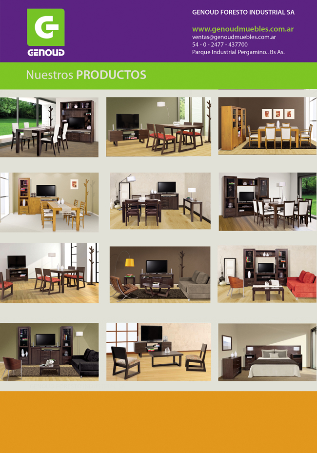 Genoud muebles 2014 catalogo de la industria de pergamino for Muebles por catalogo